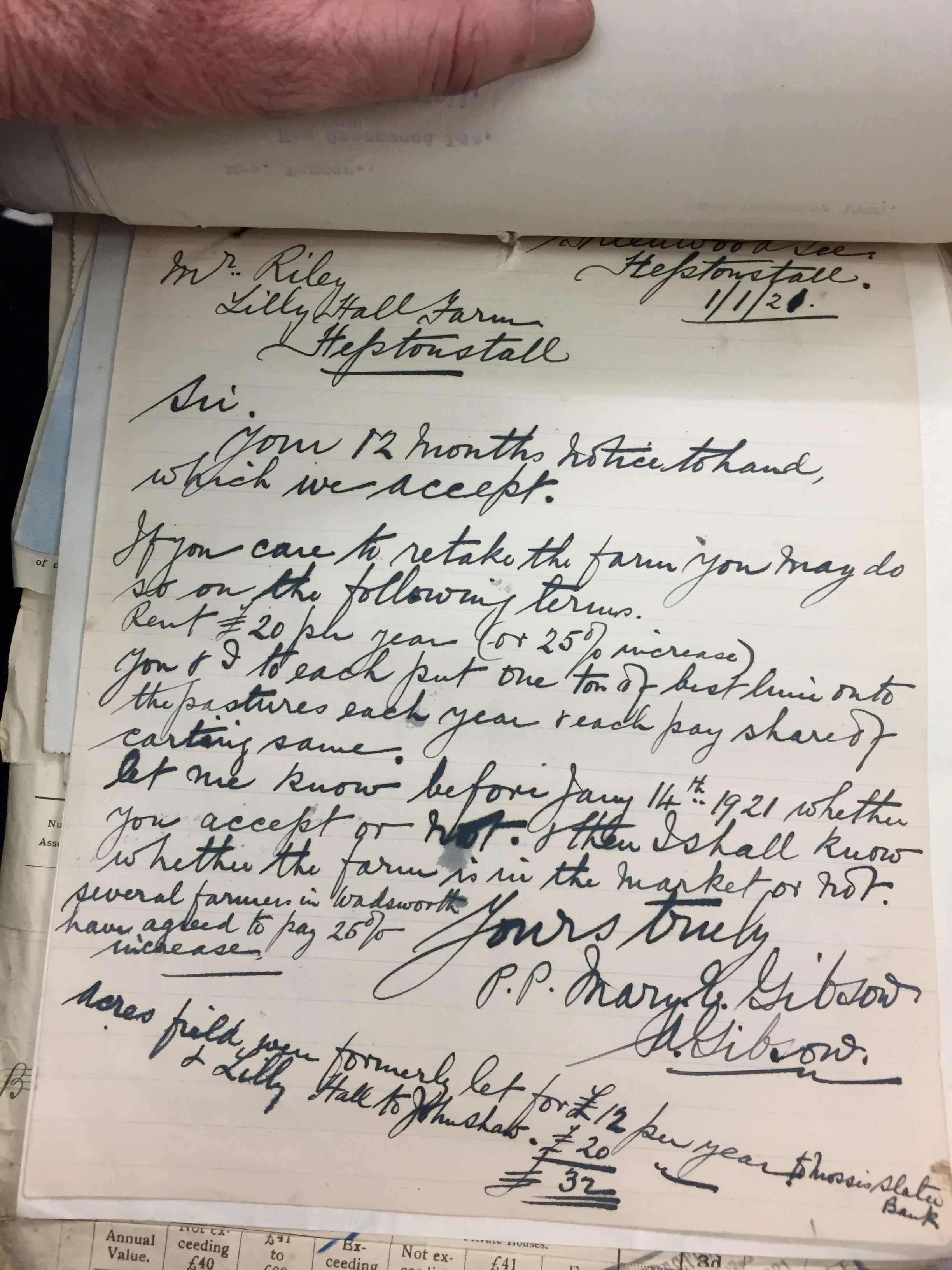 letter from Gibson accepting Riley's end of lease